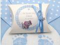 Gastgeschenk Taufe Junge personalisiert MIT NAMEN Blau Baby Geburt Babyshower  7