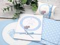 Gastgeschenk Taufe Junge personalisiert MIT NAMEN Blau Baby Geburt Babyshower  8