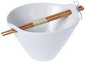 Schale mit Essstäbchen Weiß Porzellan Suppenschale Nudelschale Reisschale Küche  1