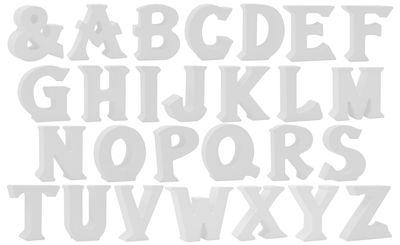 Buchstaben Stehend 3D Weiß Tischdeko Name Alphabet Kommunion Konfirmation Taufe Deko