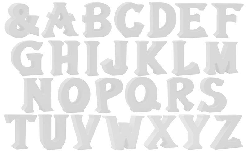 Buchstaben Stehend 3D Weiß Tischdeko Name Alphabet Kommunion Konfirmation Taufe Deko A-Z