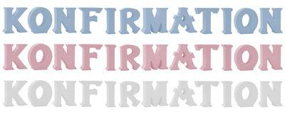Schriftzug Stehend Buchstaben 3D Konfirmation Weiß Rosa Blau Tischdeko
