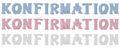 Schriftzug Stehend Buchstaben 3D Konfirmation Weiß Rosa Blau Tischdeko Deko 1