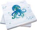 Servietten Tischdeko Krake Oktopus Maritim Blau Party Kindergeburtstag 20 Stück  1