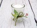 2x Teelichtglas Weiß Grün Tischdeko Deko Hochzeit Vintage Geburtstag Kommunion Konfirmation JENNY 2