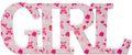 Schriftzug Holz Girl Rosa Baby Mädchen Geburt Taufe Tischdeko Raumdeko Deko 1