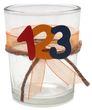2x Teelichtglas Schulanfang Einschulung Tischdeko ABC Party Kinder Bunt 2