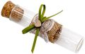 5 Gastgeschenke Hochzeit Rustikal Glasröhrchen Jute Spitze Weiß Grün Geburtstag Tischdeko JOLIEN 1