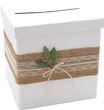 Briefbox Kartenbox Rustikal Hochzeit Vintage Jute Spitze Kraft Natur Geldgeschenk Deko MARTHA 1