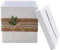 Briefbox Kartenbox Rustikal Hochzeit Vintage Jute Spitze Kraft Natur Geldgeschenk Deko MARTHA 3