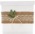 Briefbox Kartenbox Rustikal Hochzeit Vintage Jute Spitze Kraft Natur Geldgeschenk Deko MARTHA 2