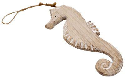 Seepferdchen Holz Anhänger Maritime Deko Figur