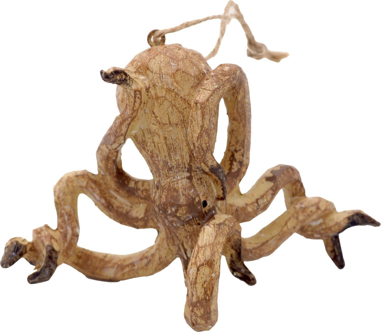 Hängedeko Meerestiere Holz Oktopus Deko Maritim Meer Holzdeko 4-tlg