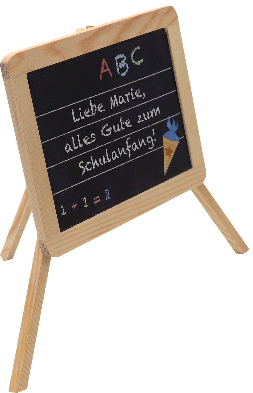 Schultafel MIT NAMEN Schule Einschulung Holz Tafel Tischdeko Schreibtafel Schulanfang Party