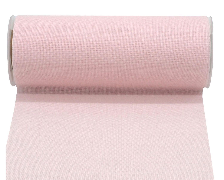 10m Tischläufer Tischband Leinen Optik 20cm Rosa Pastell Tischdeko Partydeko Baby Taufe Geburtstag Hochzeit