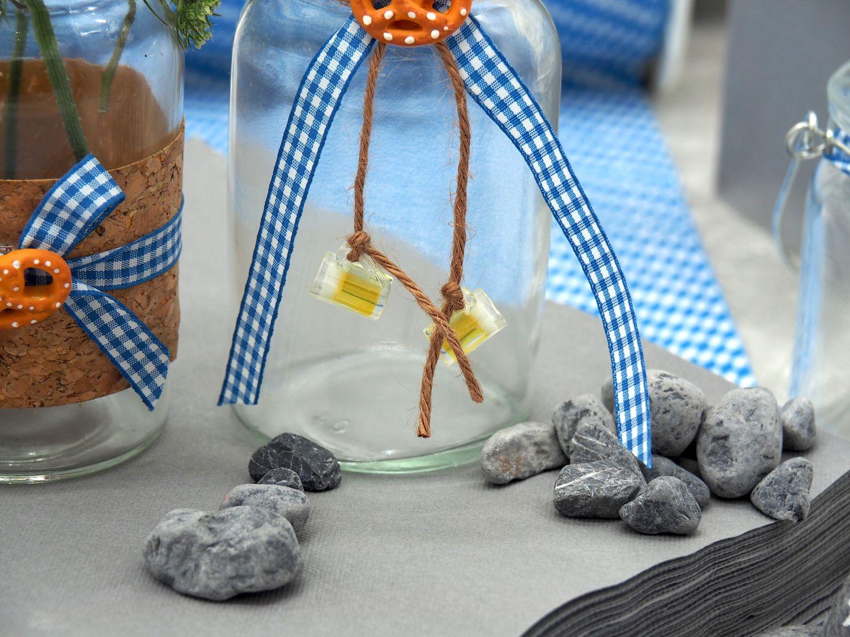 Oktoberfest Tischdeko Partydeko Bayrisch Blau Landhaus Mottoparty SET