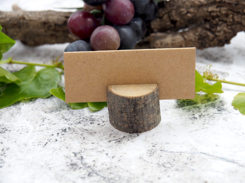 4 Tischkartenhalter Holz Baumstamm Platzkartenhalter Namenskartenhalter Tischdeko Hochzeit