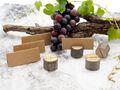 4 Tischkartenhalter Holz Baumstamm Platzkartenhalter Namenskartenhalter Tischdeko Hochzeit 4