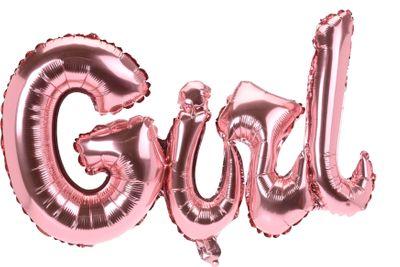 Folienballon Ballon Partydeko Schriftzug GIRL Rosa Baby Party Geburt Deko