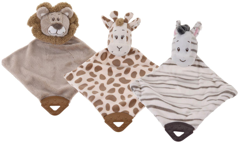 Kuscheltier Schnuffeltuch Rassel Tier Schmusetuch Kuscheltuch Löwe Giraffe Zebra Geschenk Baby Geburt Taufe