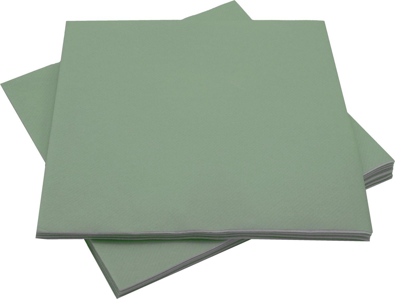 Servietten Tischdeko Grün Salbei Papierservietten 40 x 40 cm Partydeko Hochzeit Geburtstag 12 Stück