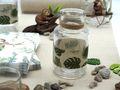 2 Vasen Tischdeko Monstera Blatt Dschungel Natur Grün Garten Sommer 2
