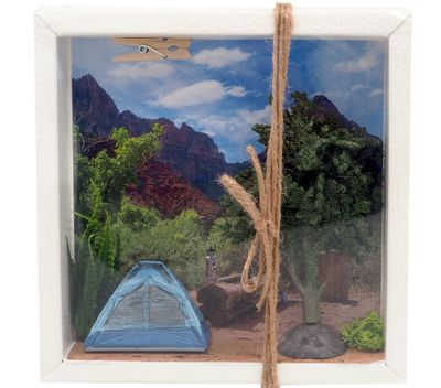 Geldgeschenk Verpackung Camping Zelten Berge Urlaub Reise