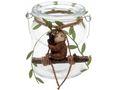 Windlicht Tischdeko Faultier Sitzend Glas Kindergeburtstag Kerzenhalter 1