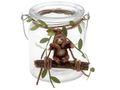 Windlicht Tischdeko Faultier Hängend Glas Kindergeburtstag Kerzenhalter 1