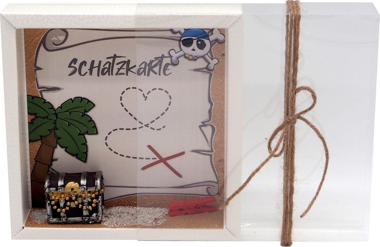 Geldgeschenk Verpackung Geburtstag Schatztruhe Schatzkarte Pirat Geschenk Kindergeburtstag