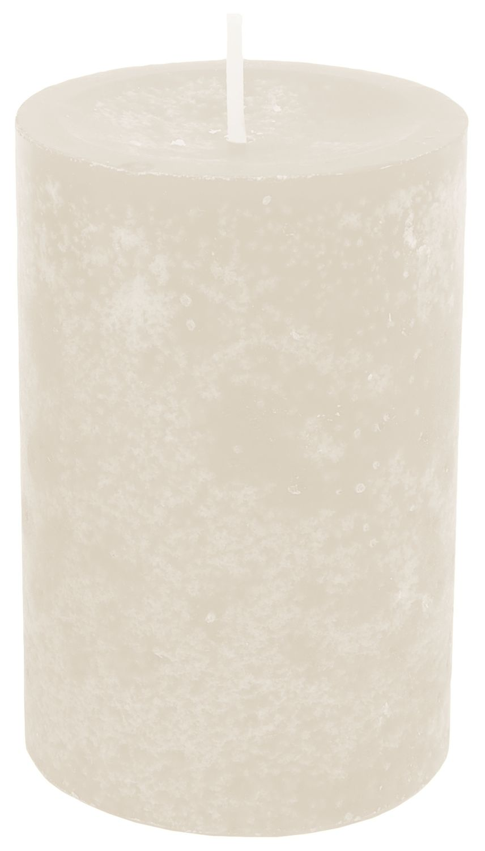 4 Kerzen Stumpenkerzen Tischdeko Grün Beige Creme Braun Adventskerzen Deko