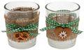 Tischdeko Oktoberfest Bayrisch 2 Teelichthalter Teelichtgläser Grün Party Deko 1