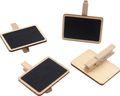 8 Tischkarten Mini Kreidetafel Tischdeko Namensschilder mit Holzklammer Einschulung Party Deko Buffet 2