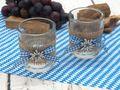 Tischdeko Oktoberfest Bayern 2 Teelichthalter Teelichtgläser Blau Weiß Enzian Party Deko 4