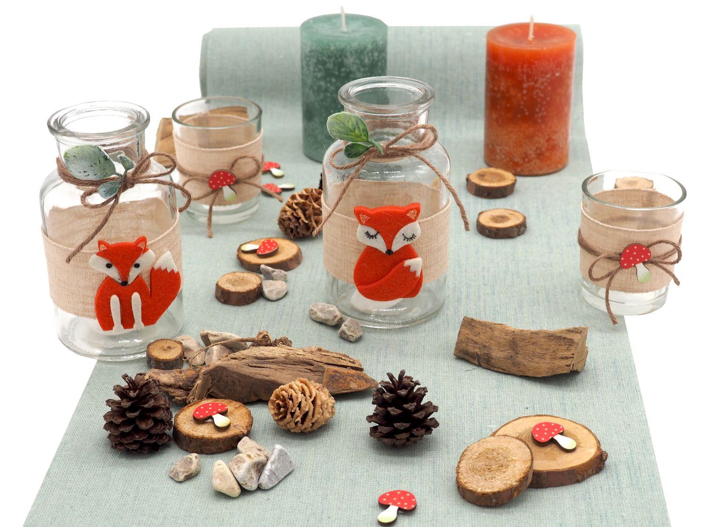 Tischdeko Kindergeburtstag Fuchs Mint Orange Party Geburtstag Dekoration Herbstdeko