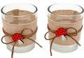 Tischdeko Teelichthalter Teelichtgläser 2 Stück Pilze Herbstdeko 1