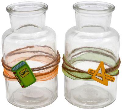 Tischdeko Einschulung Schulanfang 2 Vasen Deko