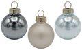 18 Weihnachtskugeln Christbaumschmuck Weihnachtsdeko Weihnachtsbaum Silber Blau Grau  1