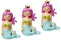 Deko Figur Meerjungfrau Tischdeko Nymphe Türkis Pink 3 Stück Partydekoration Kindergeburtstag 1