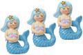 Deko Figur Meerjungfrau Tischdeko Kindergeburtstag Nymphe Türkis Blau 3 Stück Party 1