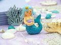 Deko Figur Meerjungfrau Tischdeko Kindergeburtstag Nymphe Türkis Blau 3 Stück Party 2