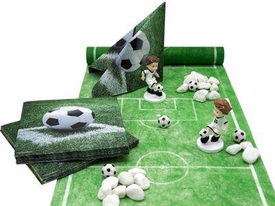 Tischdeko Kindergeburtstag Fußball Junge Sport Grün Party SET Deko