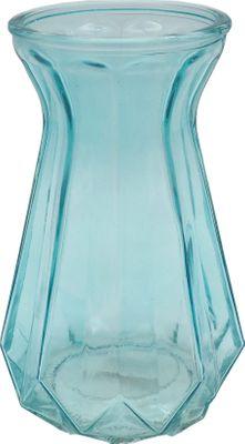 Vase Blau Glas Glasvase Tulpenvase Retro