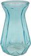 Vase Glasvase Blau Glas Blumenvase Deko Tischdeko Retro  1