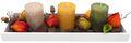 Tablett Herbst Herbstdeko Tischdeko Deko Kerze Physalis Lampionblume Holz Natur Grün Braun Gelb  2
