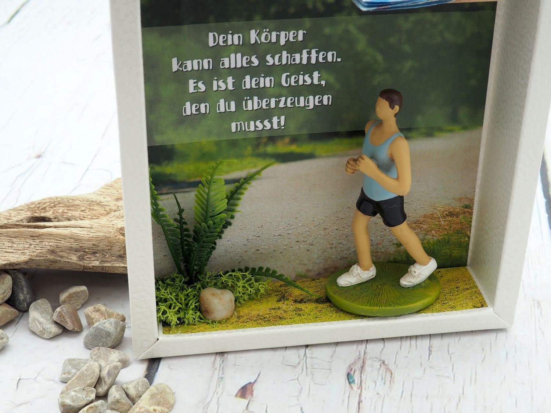 Geldgeschenk Verpackung Sportstudio Fitness Sport Workout Sportschuhe Sportbekleidung Gutschein Joggen Mann