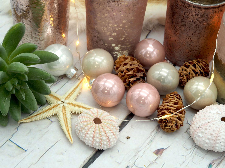 Kerzenhalter Teelichthalter Rosegold Rose Gold Glas Advent Deko Weihnachten Sommer