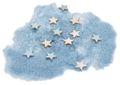 Streudeko Spiegelsand Sterne Blau Hellblau Dekosand Tischdeko Taufe Geburt Baby 500g 1