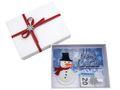 Geldgeschenk Verpackung Weihnachten XMAS Schneemann Filz Weiß Geschenk Gutschein 2