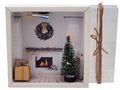 Geldgeschenk Verpackung Weihnachten XMAS Kamin Geschenk LED Lichterkette Gutschein 2